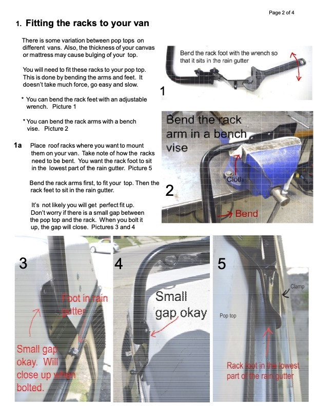Roof rack instructions page 3