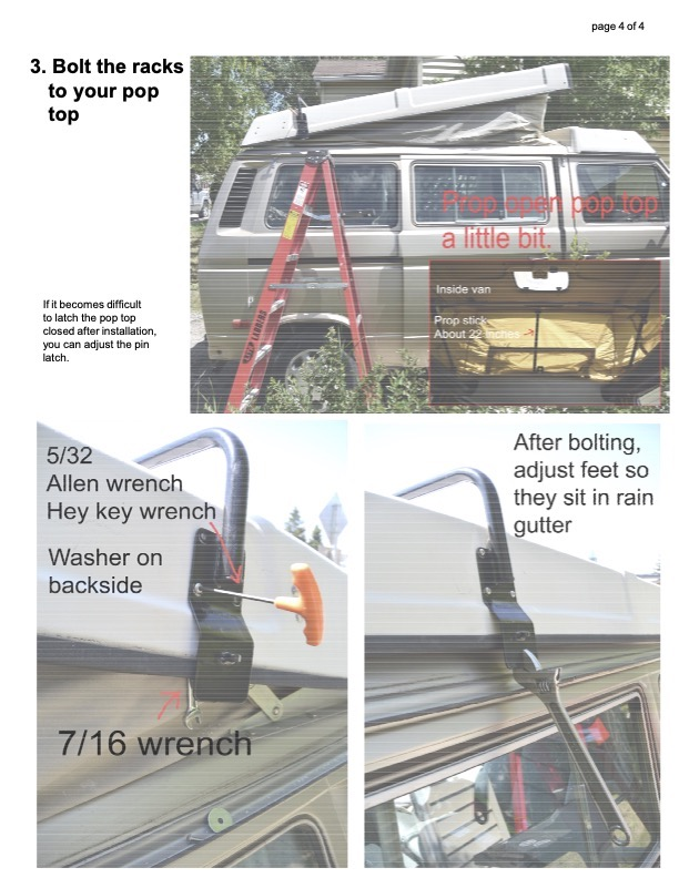 Roof rack instructions page 5