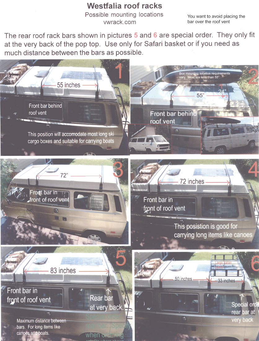 Roof rack instructions page 1